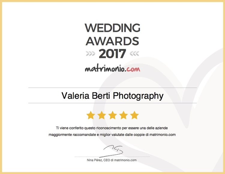 Wedding Awards 2017 a Valeria Berti