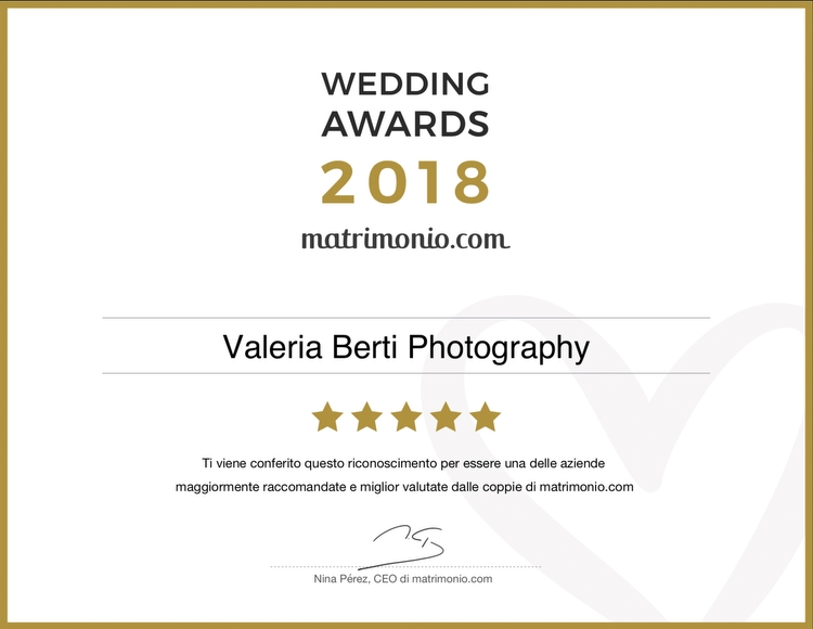 Wedding Awards 2018 a Valeria Berti