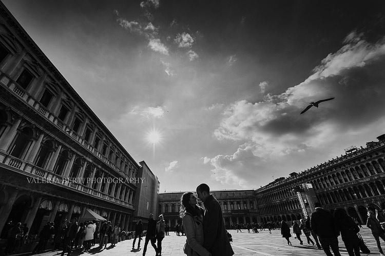 Proposta di Matrimonio a Venezia con Acqua Alta