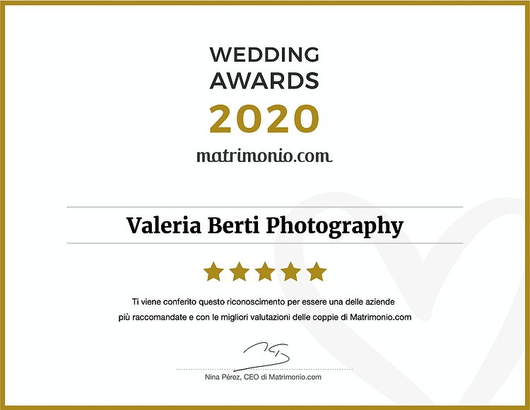 Valeria Berti vince il Wedding Awards 2020