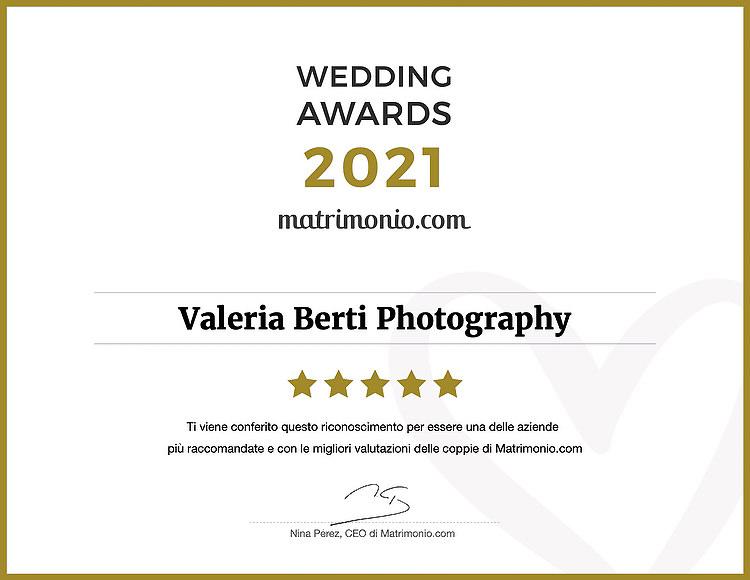 Valeria Berti vince Wedding Awards Matrimonio.com